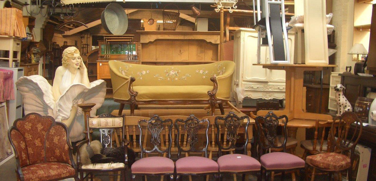 Second hand furniture in shop
